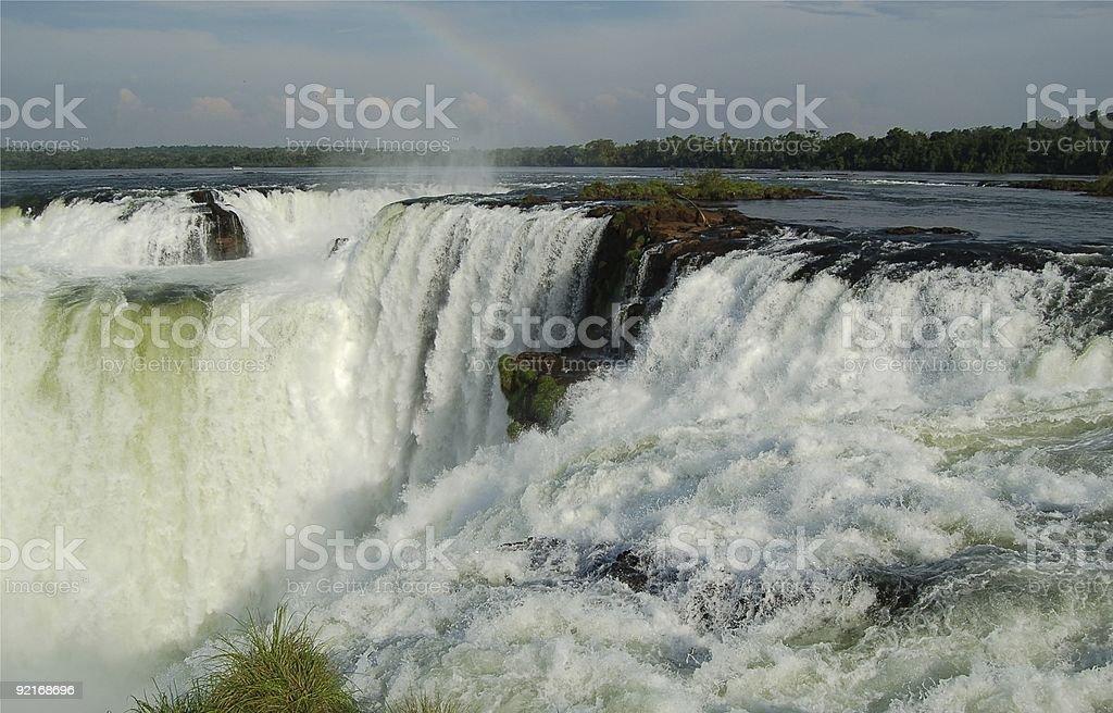 Devil's gardła przy wodospadach w Iguazu zbiór zdjęć royalty-free