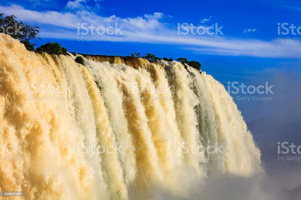 Devil's Throat at the Iguacu Falls between Brazil and Argentina. stock photo