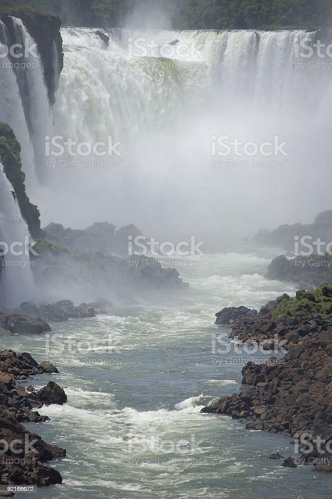 Devil's gardła panoramiczny widok, Iguazu zbiór zdjęć royalty-free