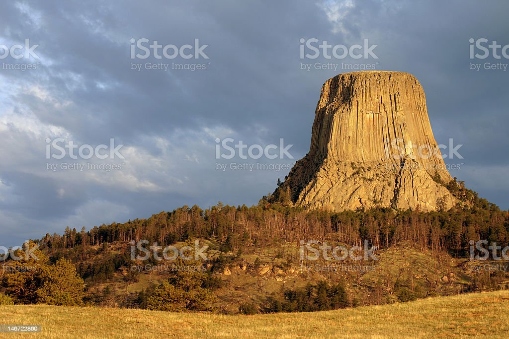 Devils Tower at Sunrise royalty-free stock photo