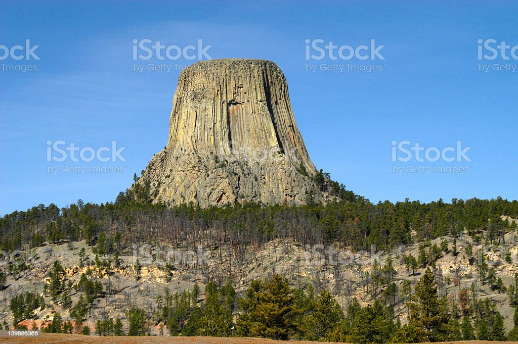 Devil's Tower Environs stock photo