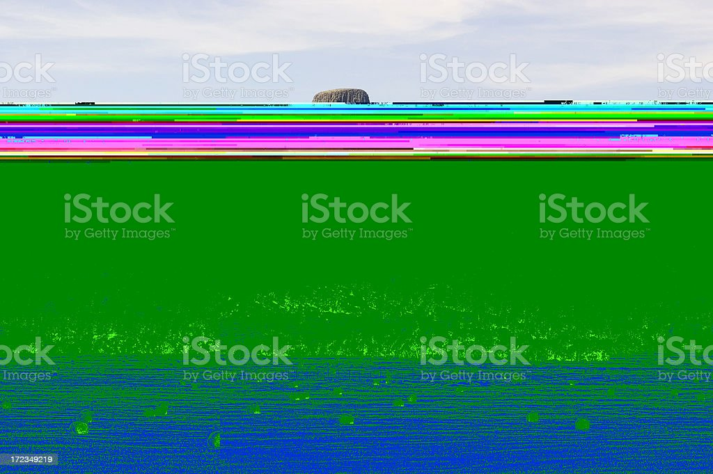 Devil's Tower & Local Agriculture royalty-free stock photo