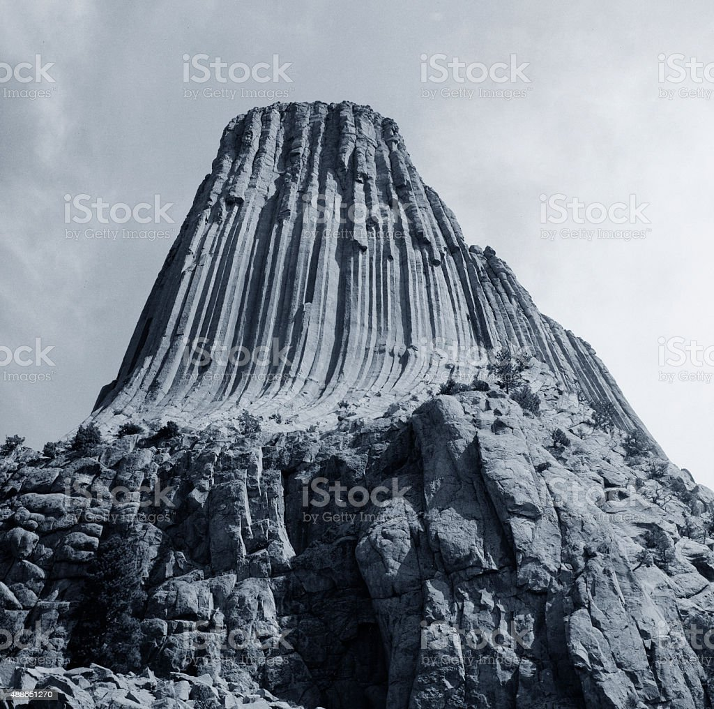 Devils Tower National Monument stock photo