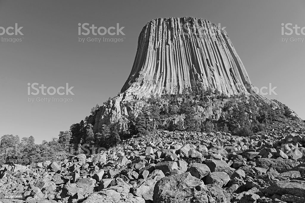 Devils Tower National Monument, Wyoming, USA stock photo