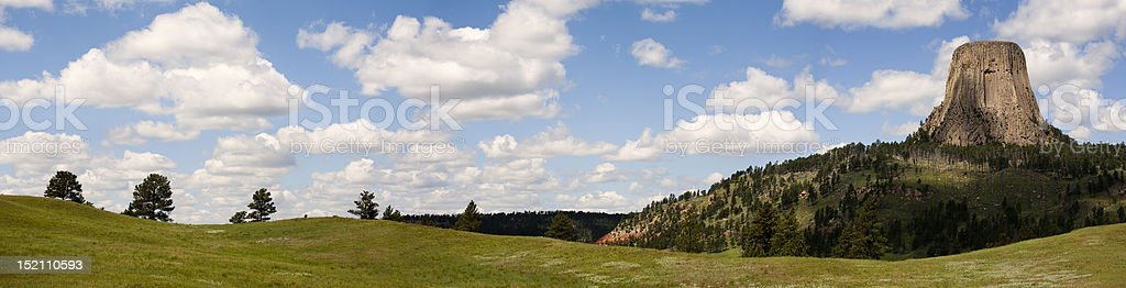 Devils Tower Panoramic royalty-free stock photo