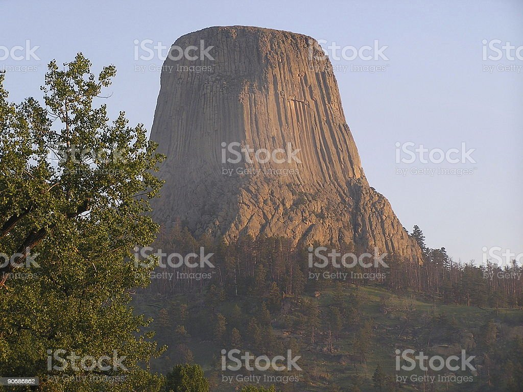 Devils Tower - sacred place royalty-free stock photo