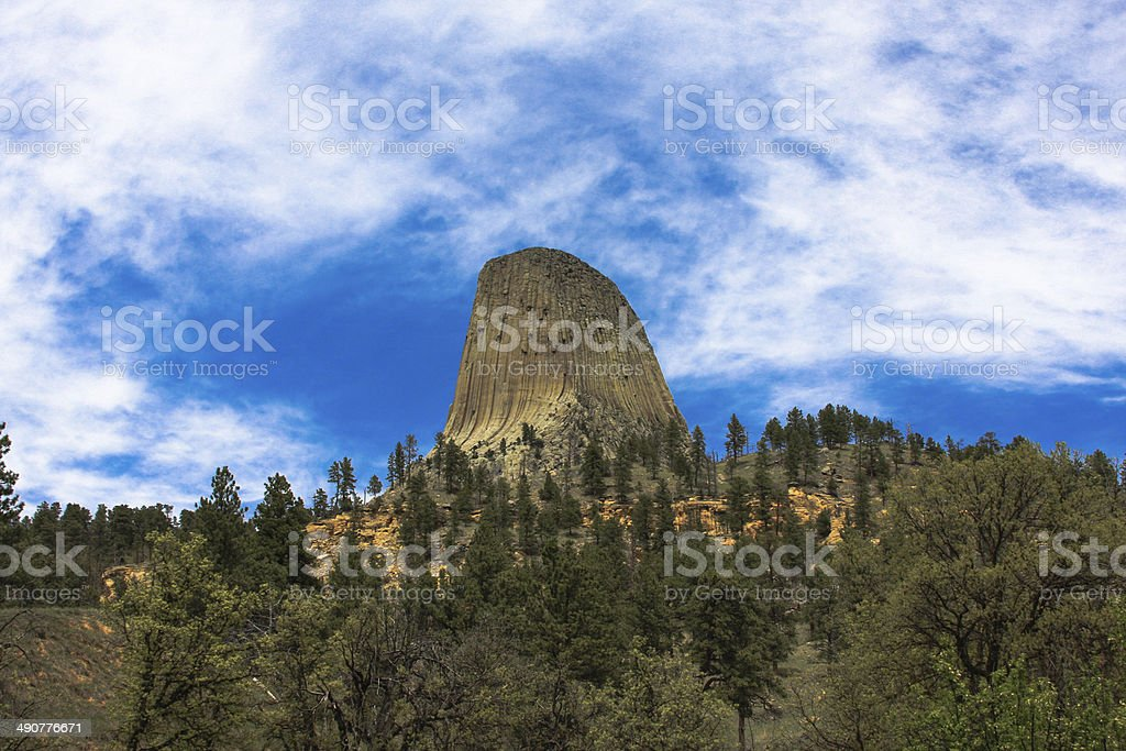 Devils tower wyoming & Local Agriculture stock photo