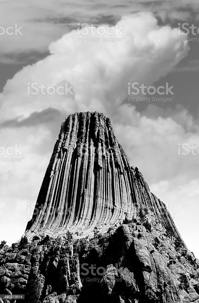 Devils Tower - Wyoming National Monument stock photo