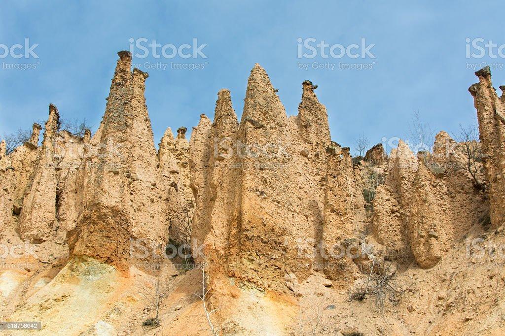 Devils town in Serbia. Djavolja varos stock photo