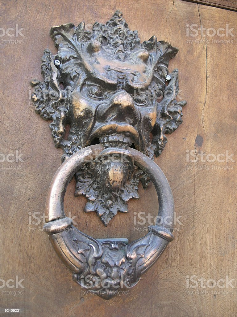 Devlish Door Knocker royalty-free stock photo