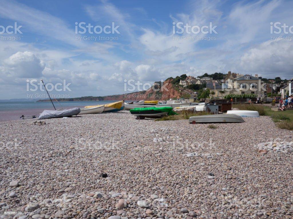 Devon Beach scene stock photo