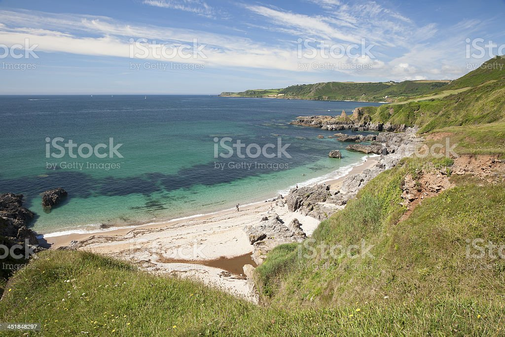 Devon coastline in summer stock photo