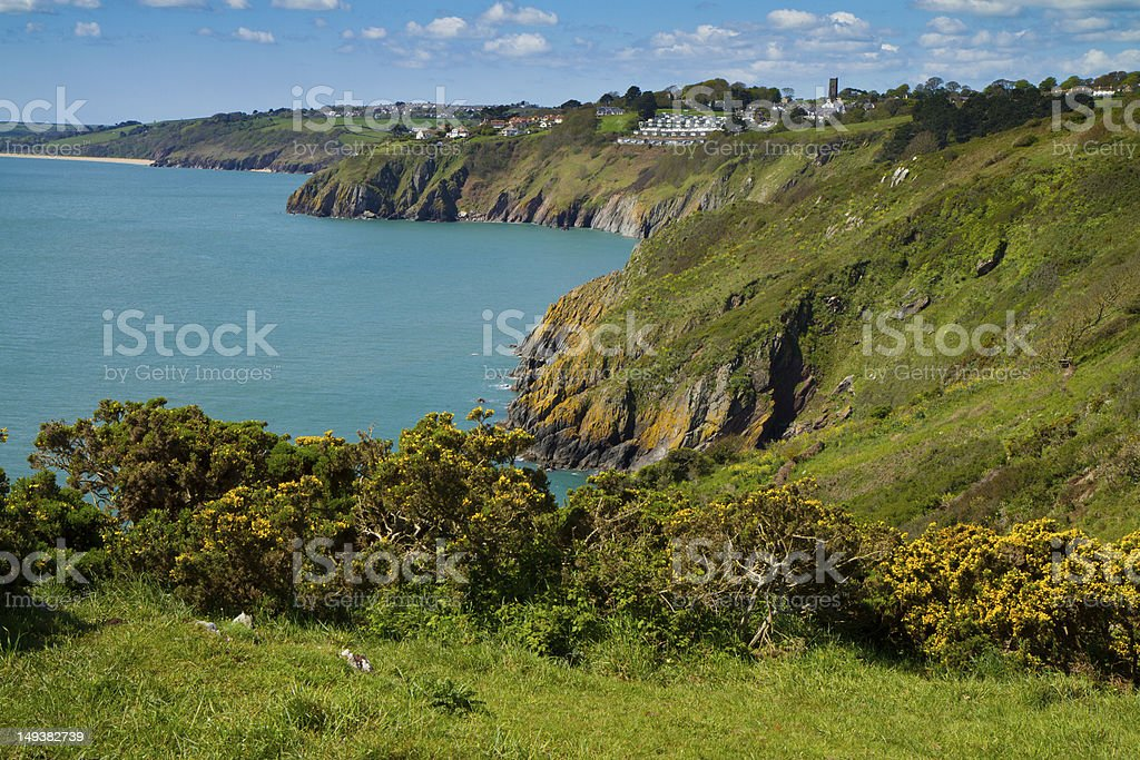 Devon coastline viewed towards Slapton Sands royalty-free stock photo