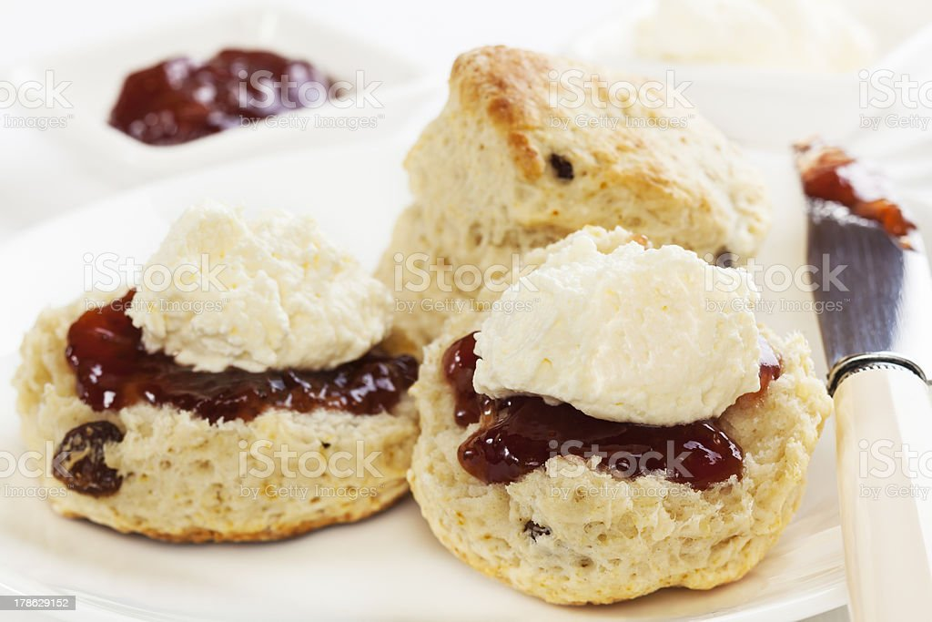Devon Cream Tea stock photo
