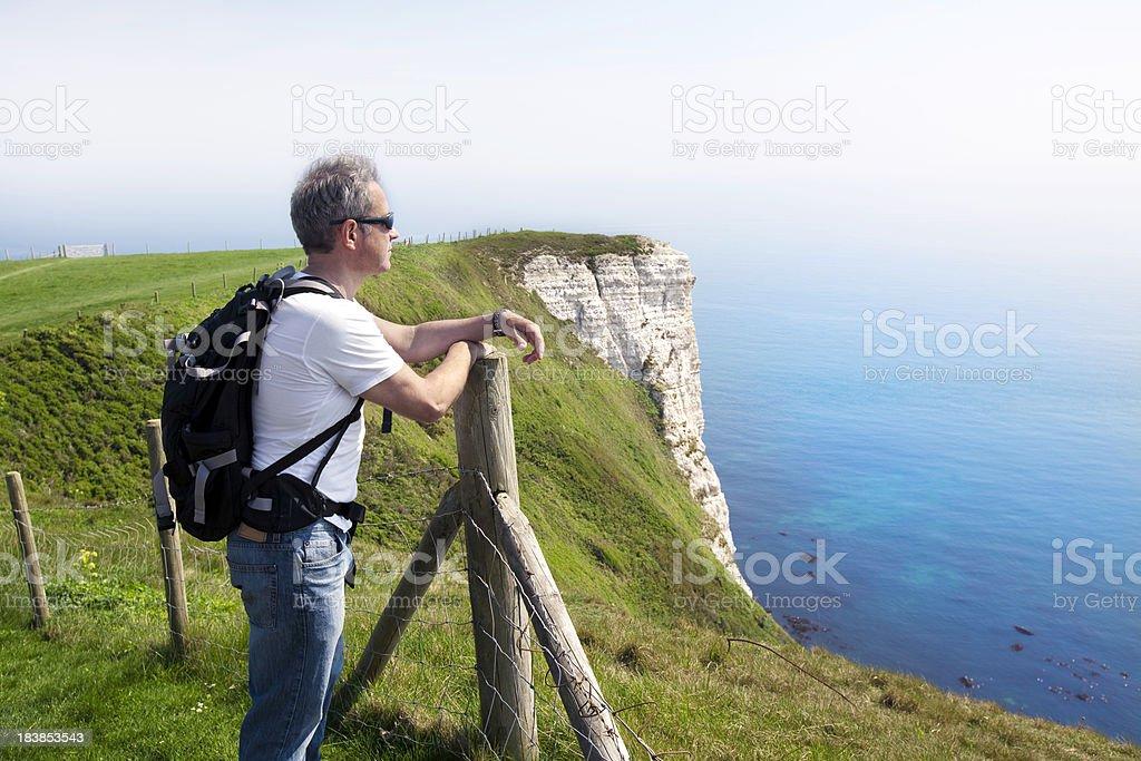 Devon: Jurassic coast walk royalty-free stock photo