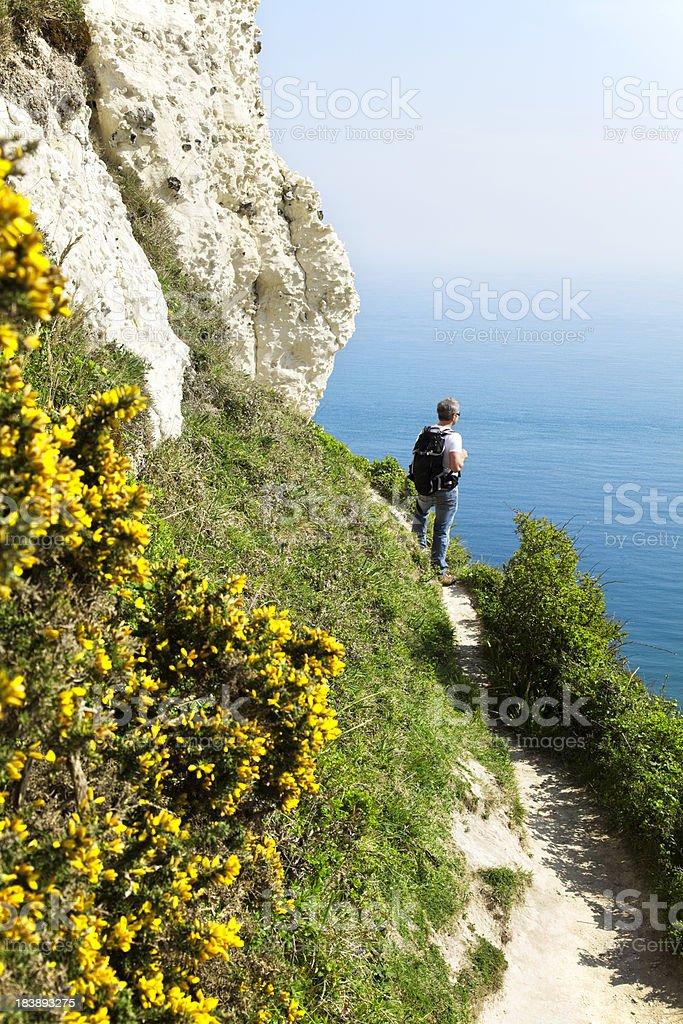 Devon: Jurassic coast walk stock photo