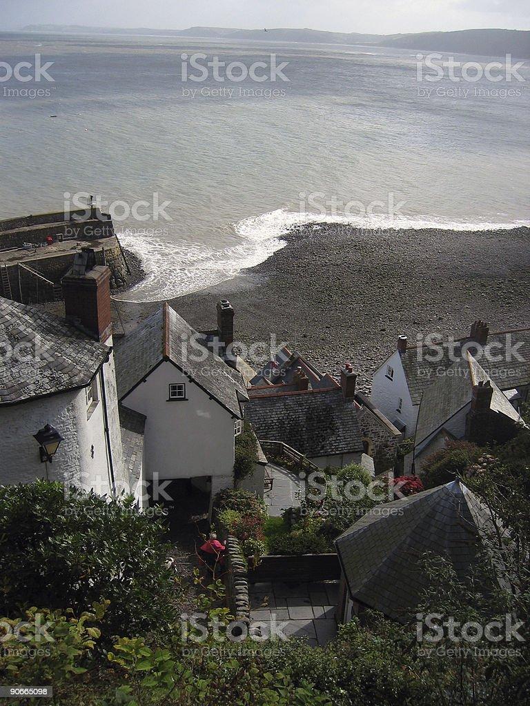Devon village stock photo