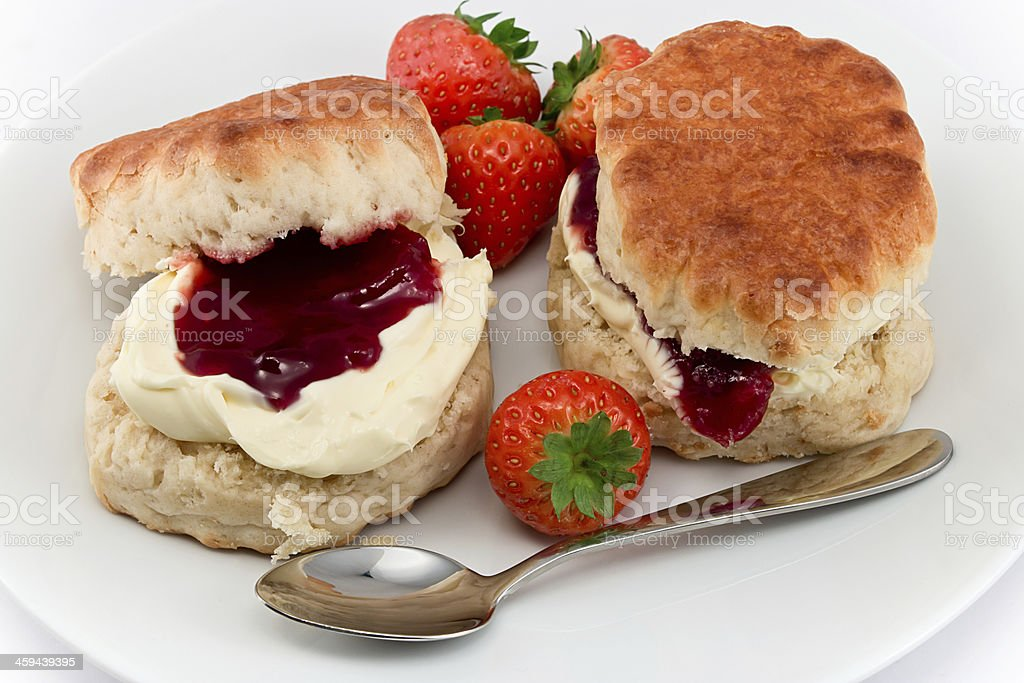 Devonshire Cream Tea stock photo