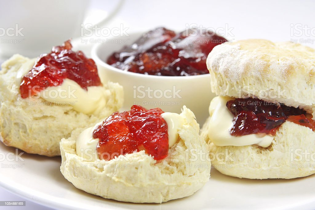 Devonshire Tea stock photo