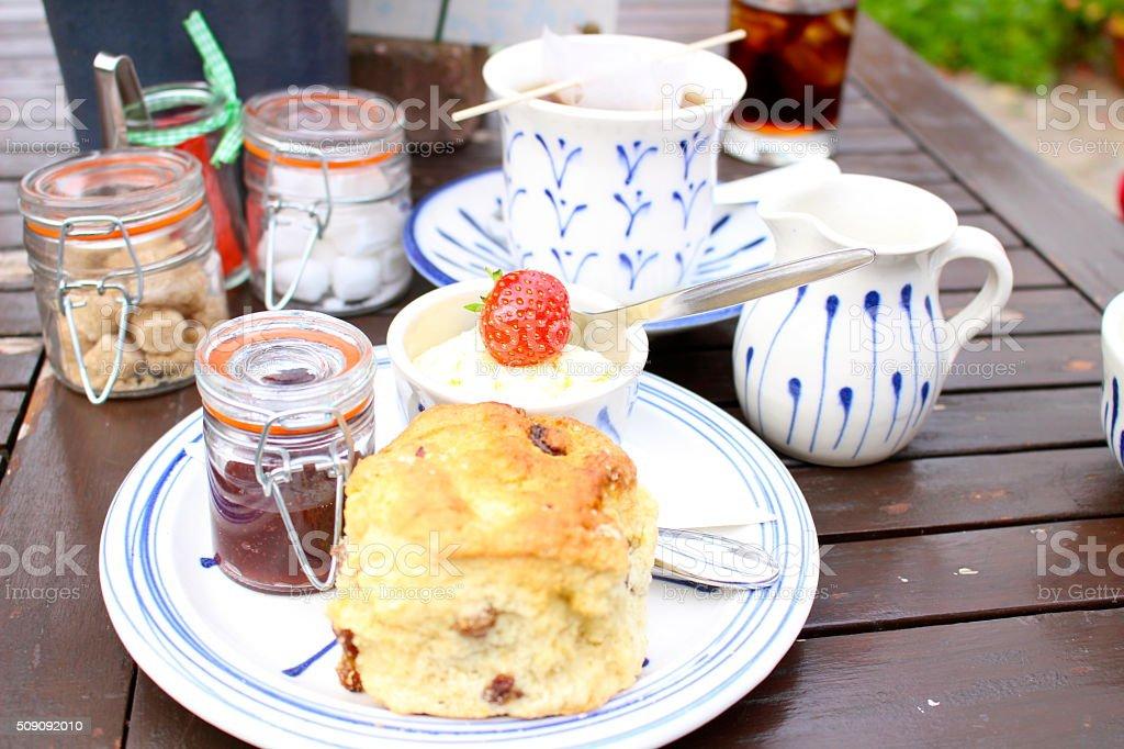 Devonshire Tea stock photo