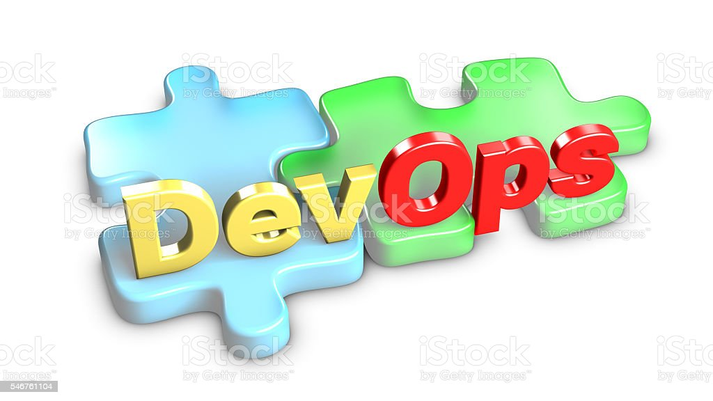 DevOps means development and operations. 3d rendering. stock photo