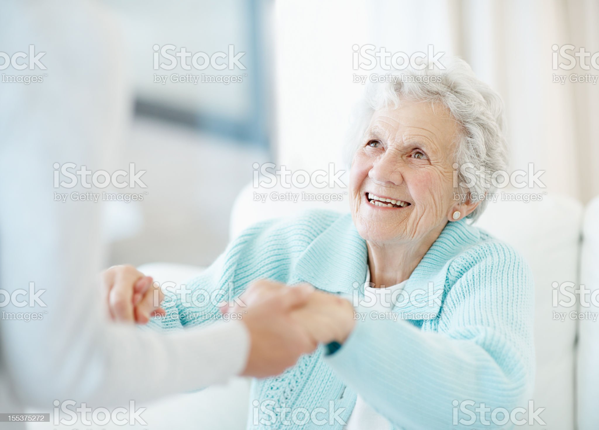 Devoted care and assistance royalty-free stock photo