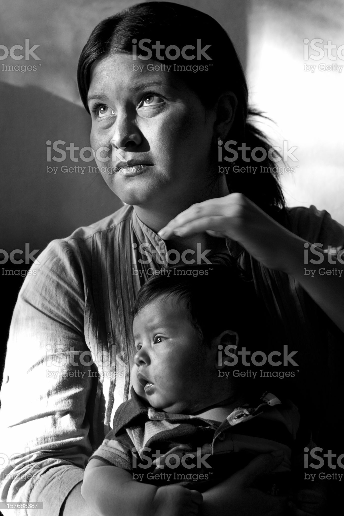 Devoted mother royalty-free stock photo