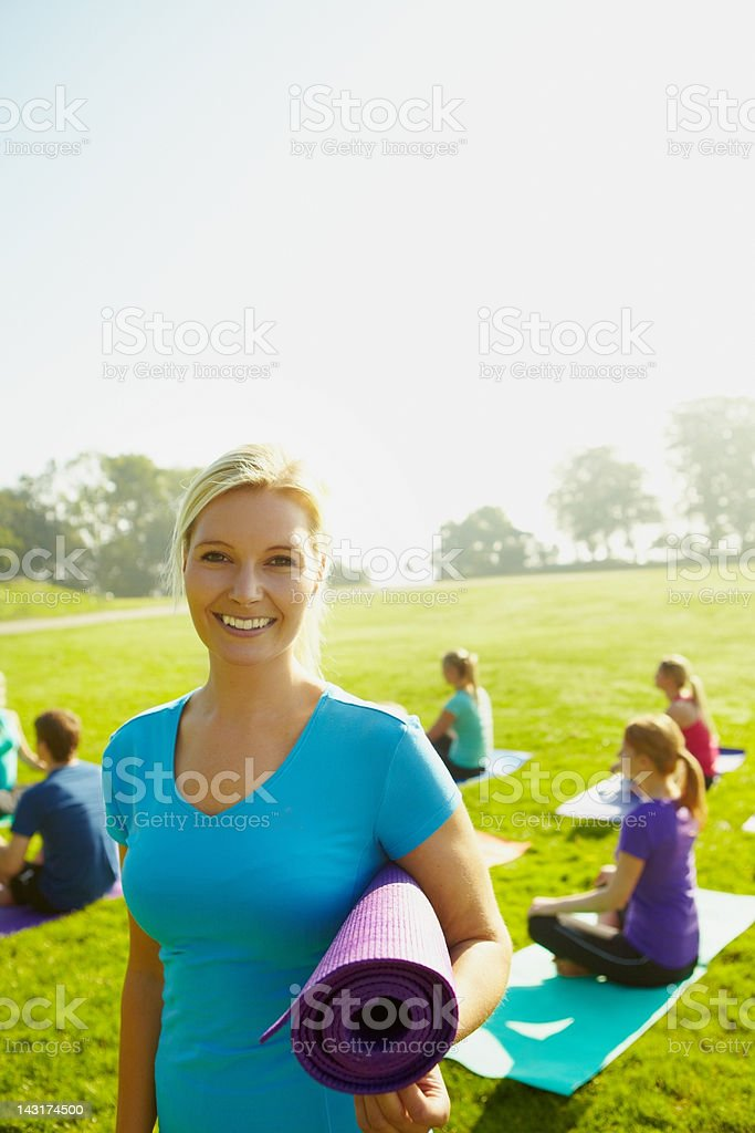 Devoted to wellness - Copyspace royalty-free stock photo