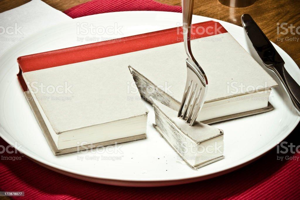 Devour a Book stock photo