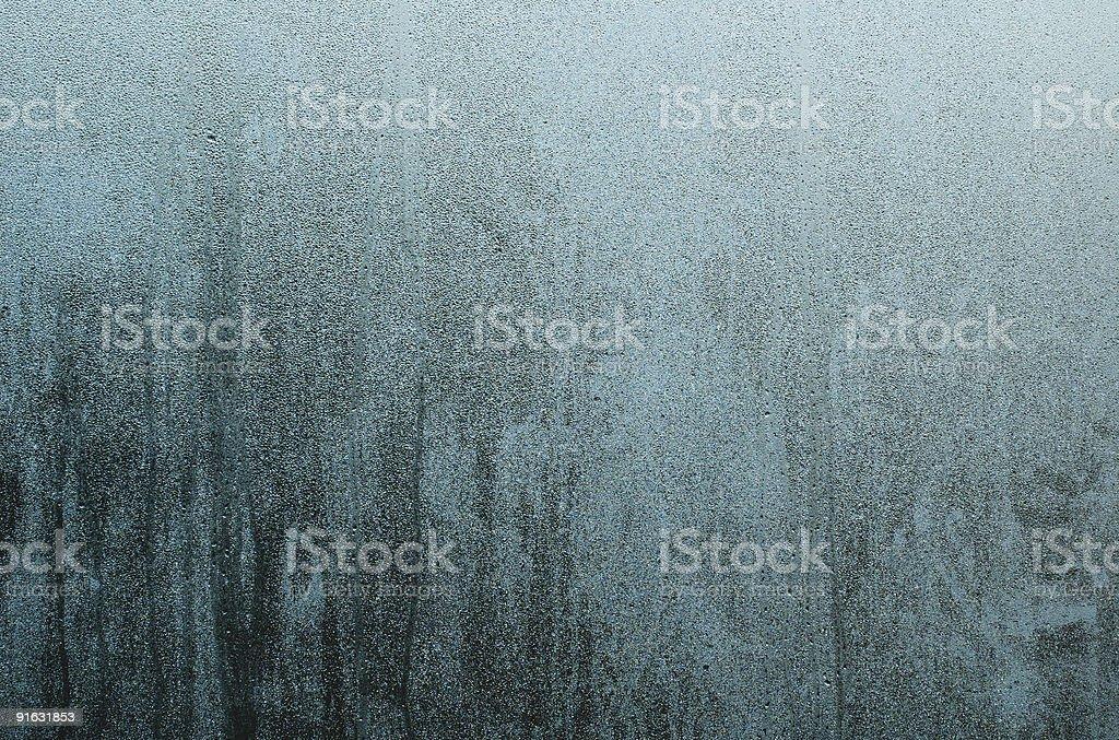Dew on window royalty-free stock photo