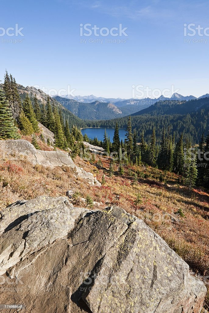 Dewey Lake in the Fall royalty-free stock photo
