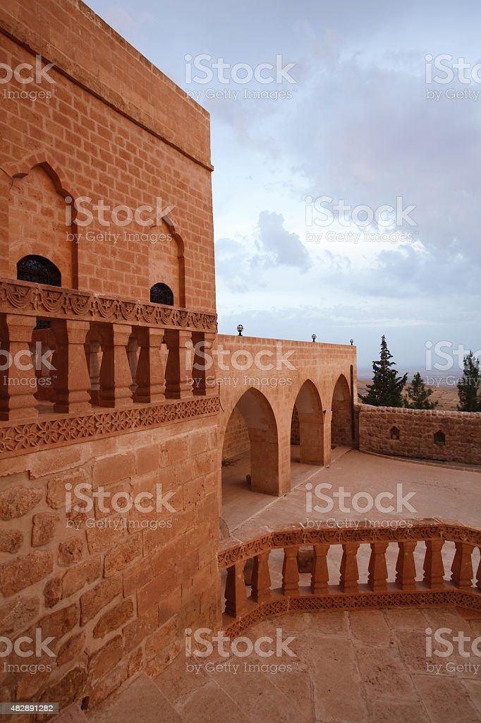 Deyr ul-Zafaran Monastery in Mardin Turkey stock photo