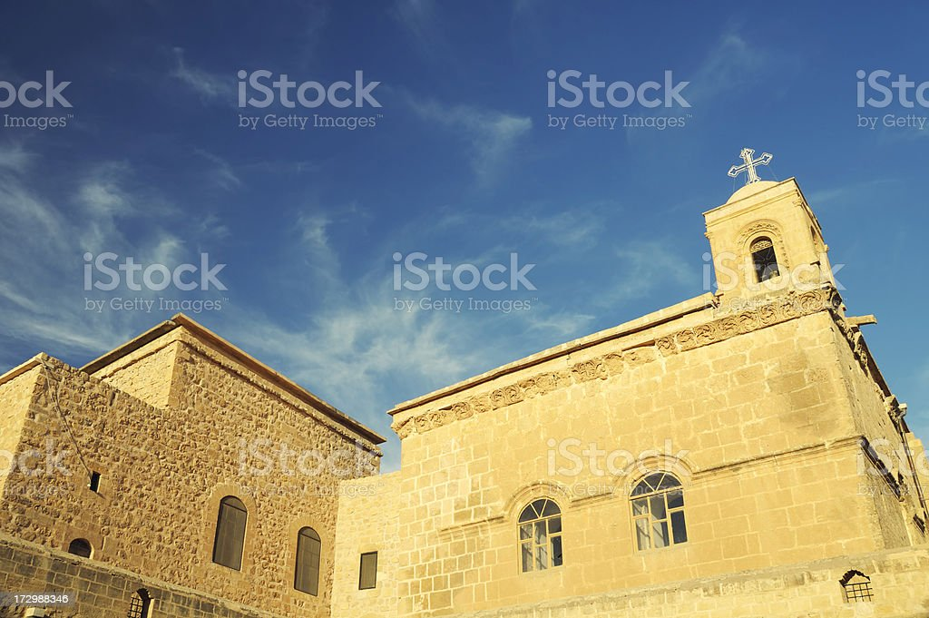 Deyrulzafaran Monastery, Mardin, Turkey royalty-free stock photo