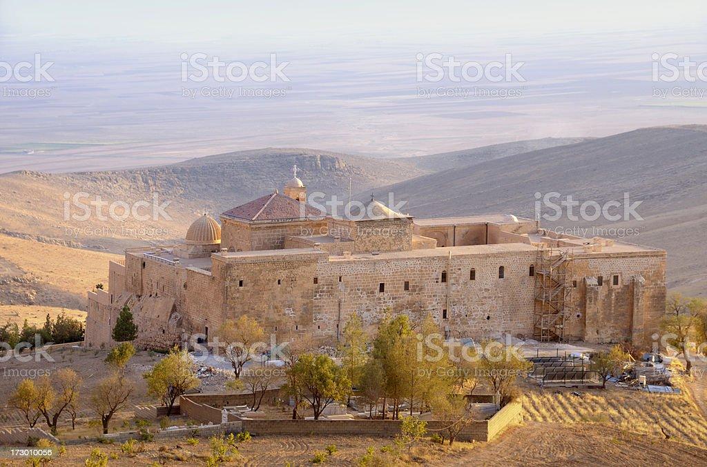 Deyrulzafaran Monastery, Mardin, Turkey stock photo