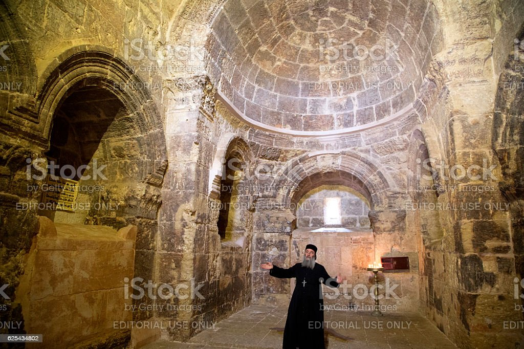 Deyrulzafaran orthodox Syriac monastery in Mardin. stock photo