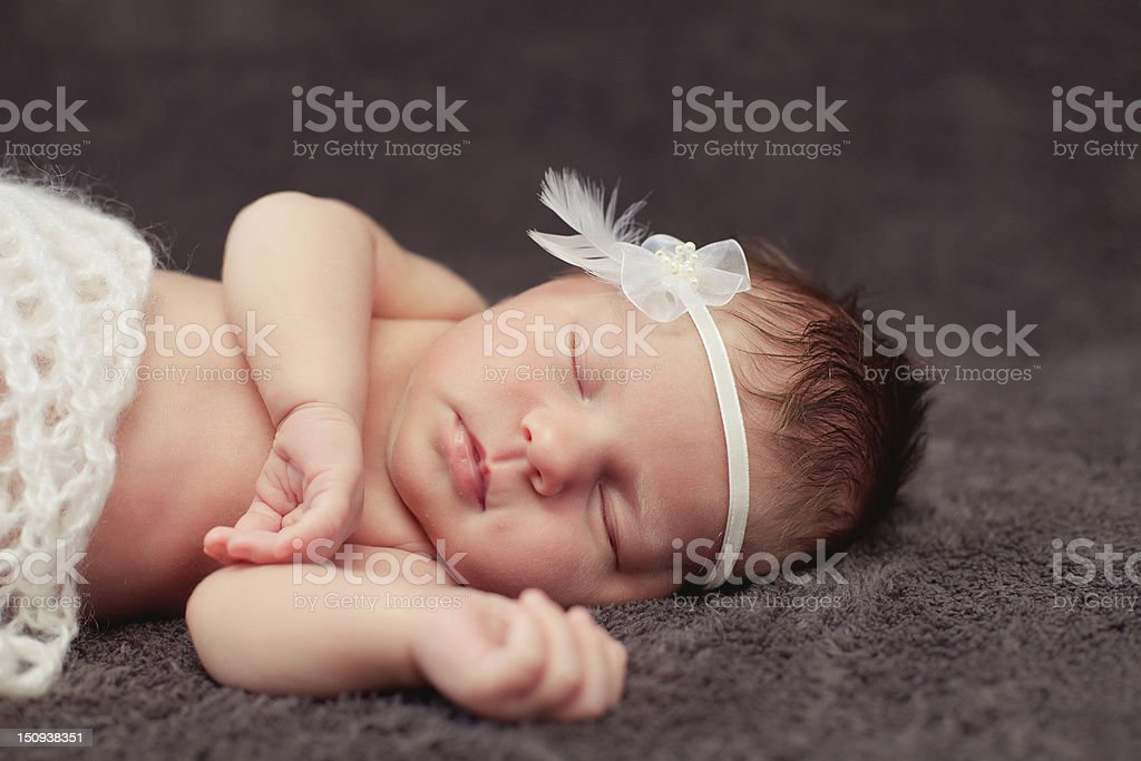 0-7 deys baby. New born royalty-free stock photo