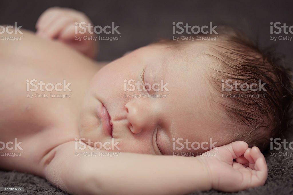 0-7 deys baby. New born. royalty-free stock photo