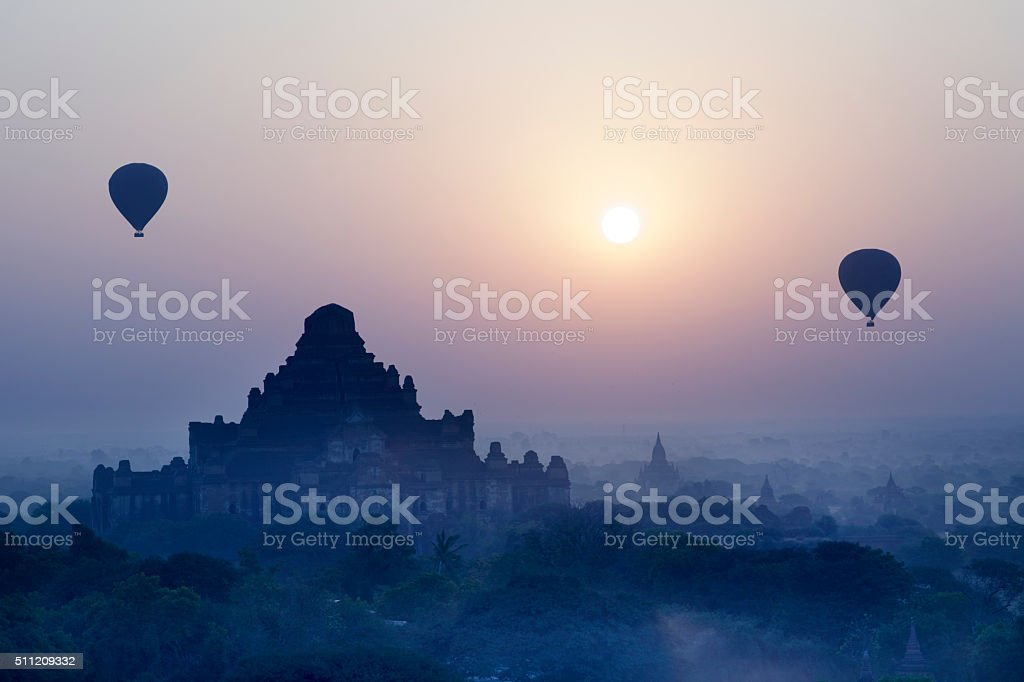 Dhammayangyi Temple Sunrise in Bagan Myanmar stock photo