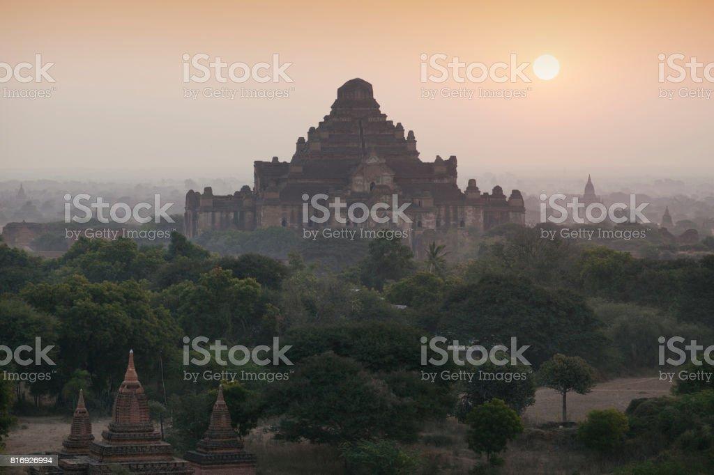 Dhammayangyi Temple Sunrise stock photo