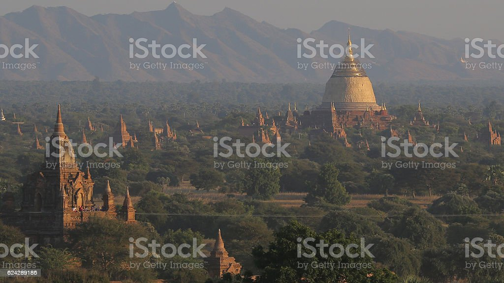 Dhammayazika Pagoda, Bagan, Myanmar stock photo