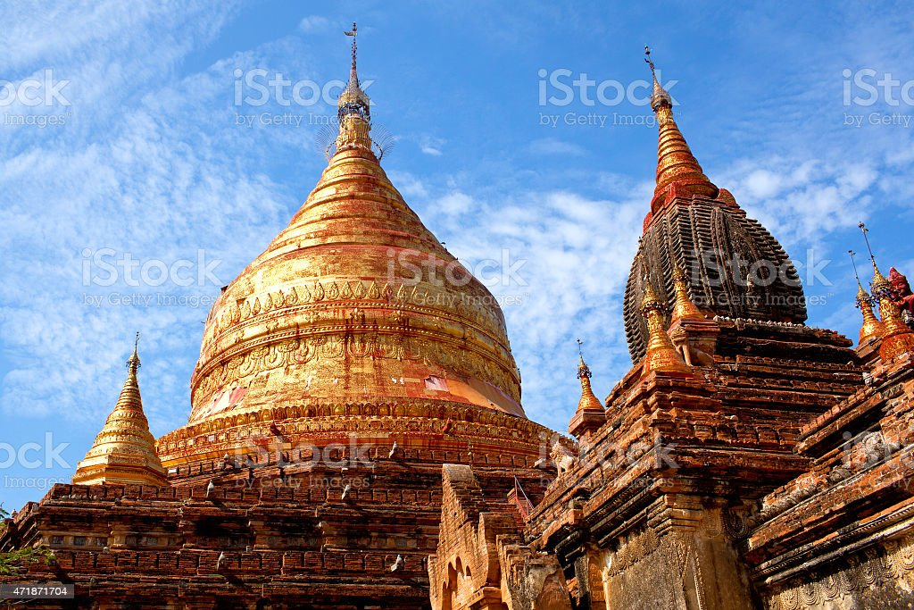 Dhammayazika Pagoda in Bagan archaeological zone, Myanmar stock photo