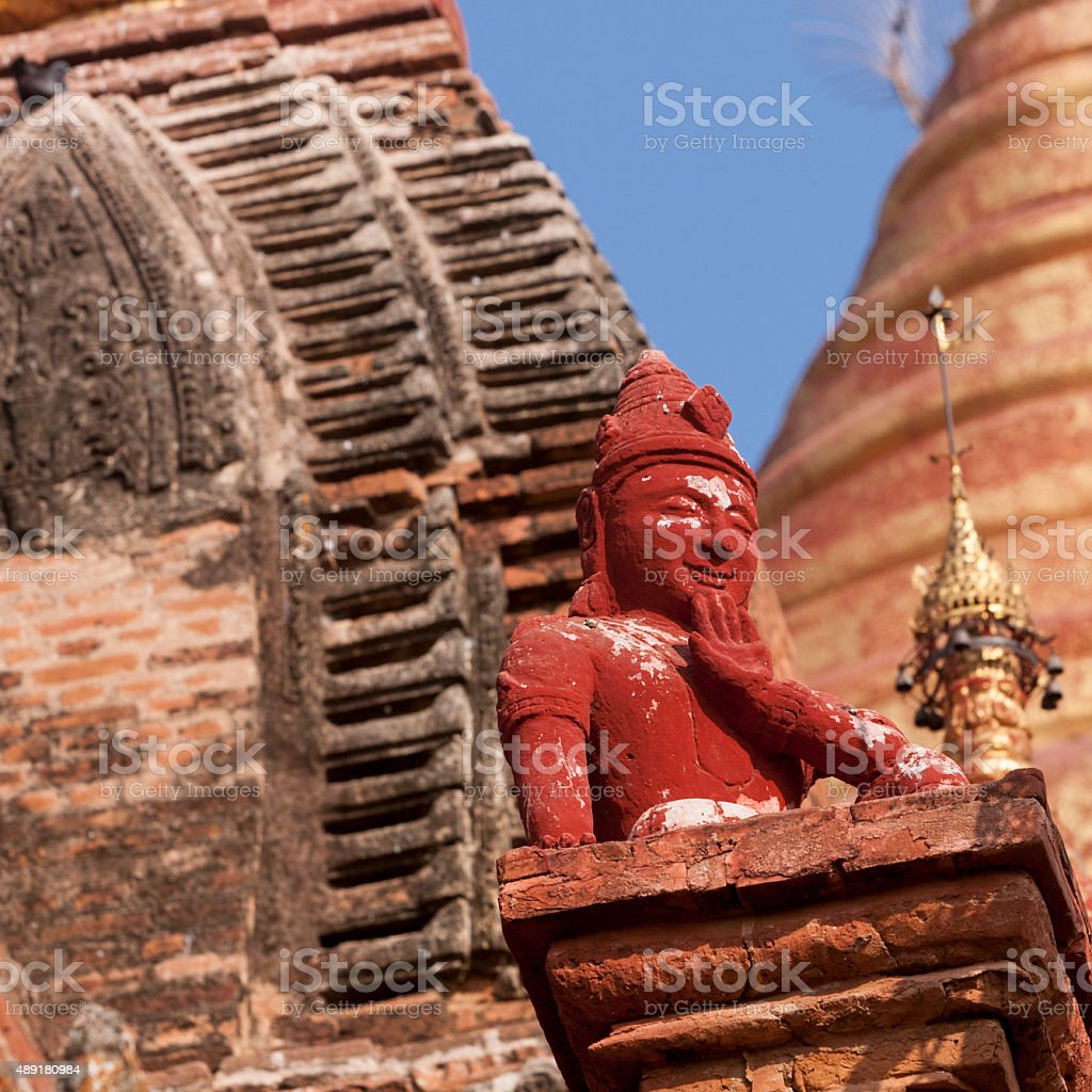 Dhammayazika Paya Guardian spirit, Bagan stock photo