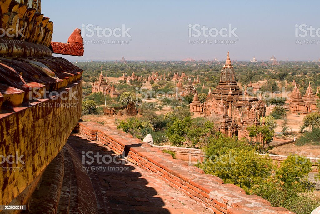 Dhammayazika temple at the archaeological site of Bagan stock photo