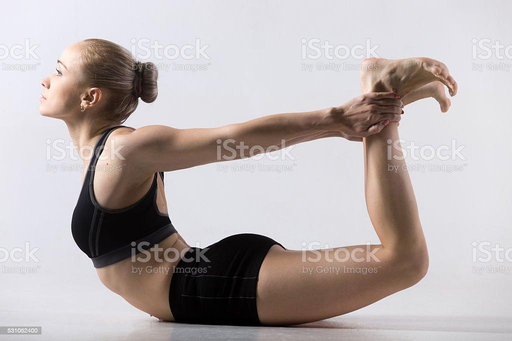 Dhanurasana, Bow Pose stock photo