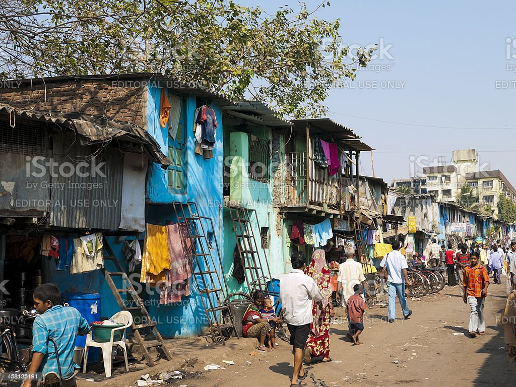 Dharavi Slum, Mumbai, India stock photo