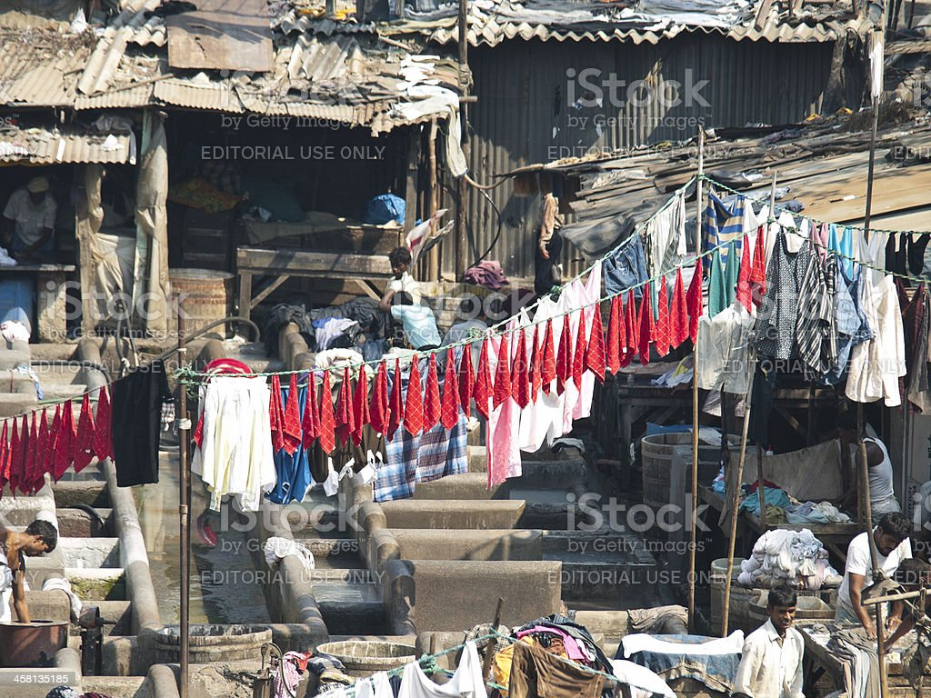 Dharavi Slum royalty-free stock photo
