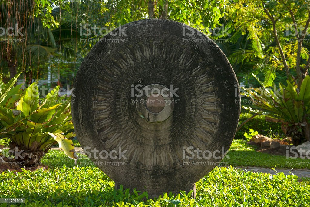 Dharma Wheel stock photo