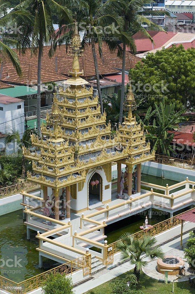 Dharmikarama burmese temple on island Penang stock photo
