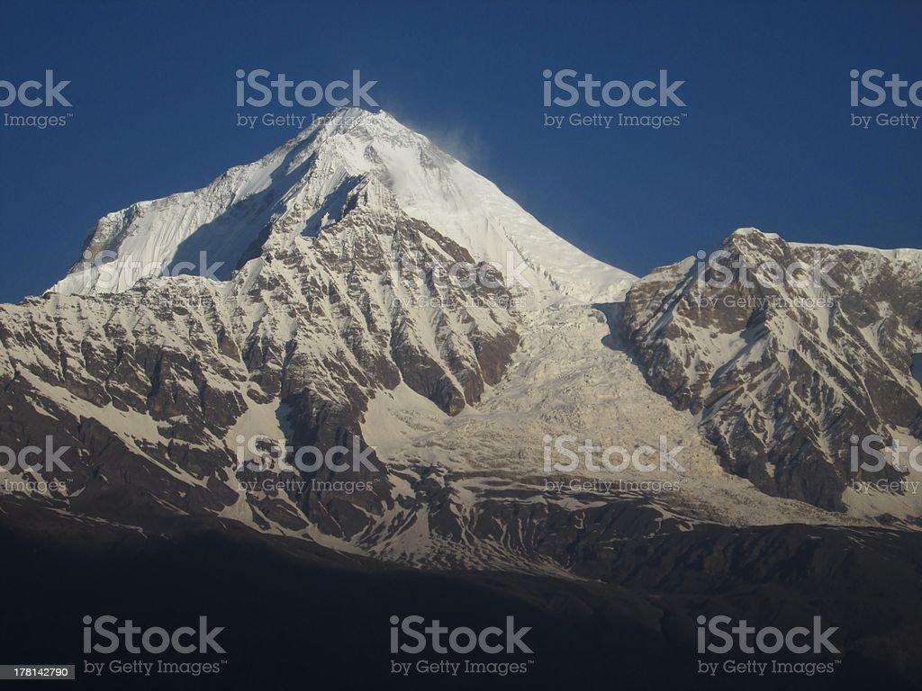 Dhaulagiri and Ice Fall royalty-free stock photo