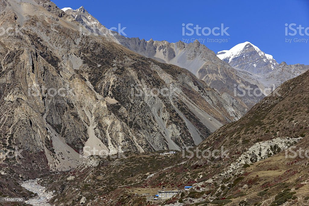 Dhaulagiri. Everest & Annapurna Circuit. Nepal motives royalty-free stock photo